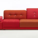 «Polder Sofa» di Hella Jongerius per Vitra. Nel 2005 Vitra ha presentato per la prima volta il Polder Sofa di Hella Jongerius. Oggi, a distanza di dieci anni, il Polder Sofa viene aggiornato con due nuove versioni introducendo nuovi colori e materiali con dettagli innovativi.
