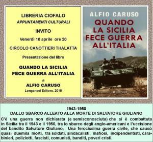Presentazione del libro quando la sicilia fece guerra all - Quando scade la presentazione del 730 ...