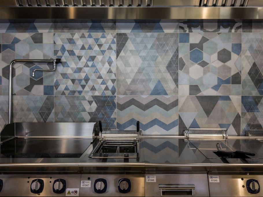 Cementine esagonali marazzi piastrelle cucina idee in ceramica e