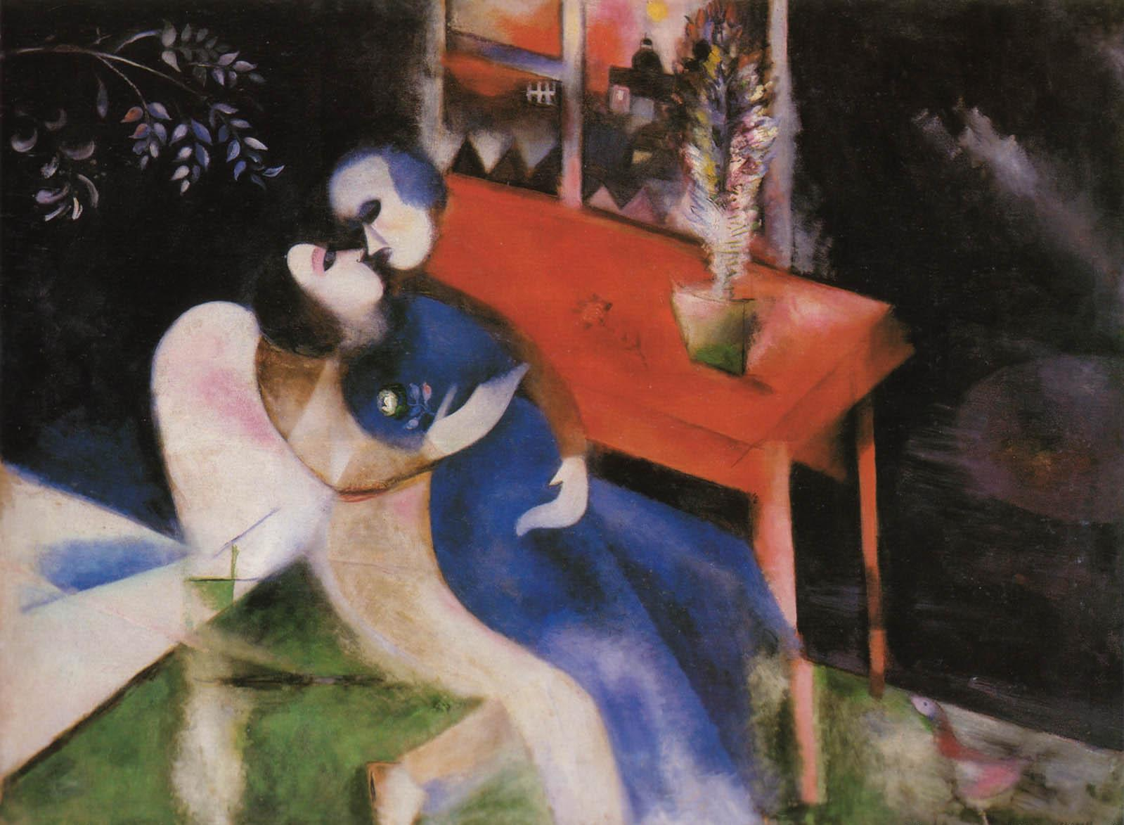 Chagall - The lovers