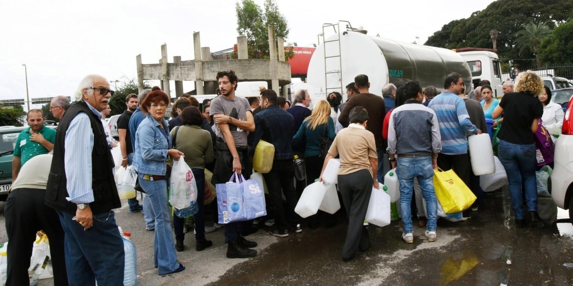 Messina senza acqua da 6 giorni, altrettanti per riparare