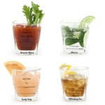 Bicchiere da cocktail, set da 4 - Kikkerland € 20,00