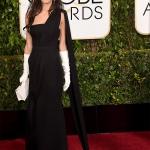 Amal Clooney in Dior Haute Couture   Golden Globe 2015
