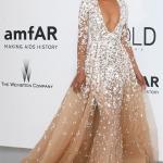Chanel Iman in Zuhair Murad   AmFAR gala Cannes 2015