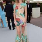 Chiara Ferragni in Blumarine   AmFAR gala Cannes 2015