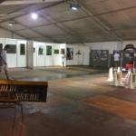 Il padiglione della Fiera pronto per accogliere i visitatori della mostra curata da Laura Faranda