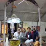 Vittorio Trimarchi (il Pensatoio di Vittorio), la curatrice della mostra, Laura Faranda, il direttore di scirokko.it, Ileana Panama e l'artista Stello Quartarone.